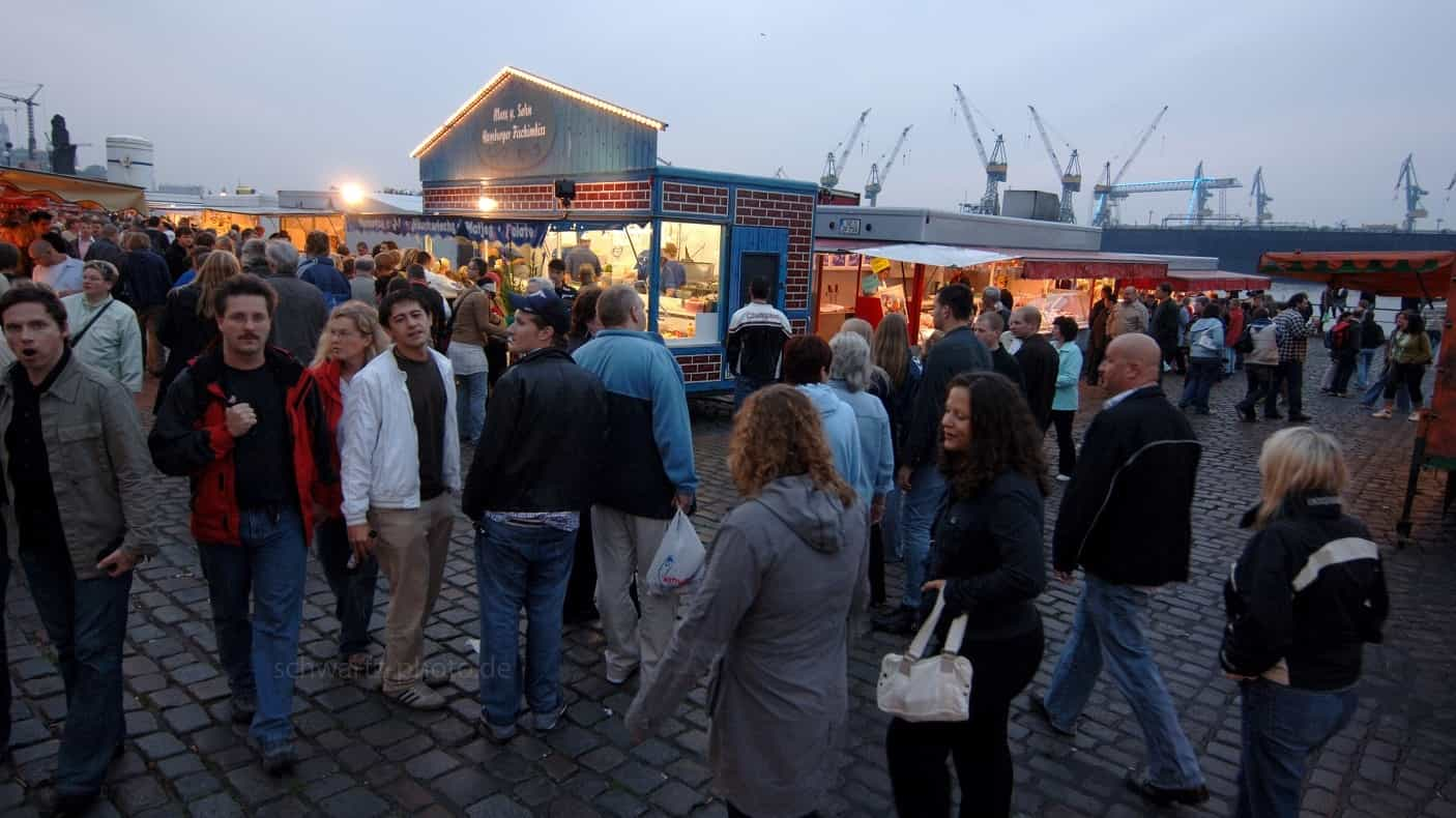 About 15 minutes walk from St.Joseph Hotel Hamburg to the fish market